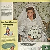 "Before the modern feeding tube trend of 2012, past brides would just go on the ""mild-soap diet"" to slim down before the big day!"