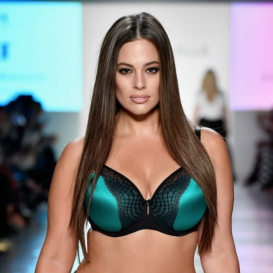 Ashley Graham Wearing Lingerie For Addition Elle NYFW 2017