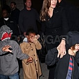 Angelina Jolie Shares an NYC Movie Night With Shiloh, Zahara, and Pax