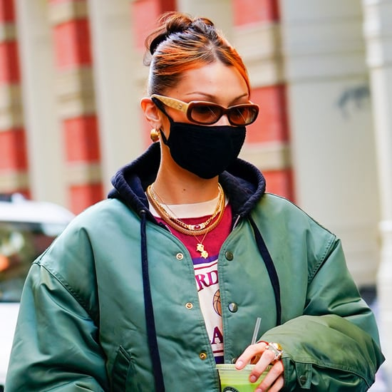 Bella Hadid's Chunky Orange Highlights