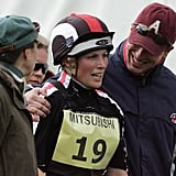 Princess Anne, Zara Tindall, and Peter Phillips