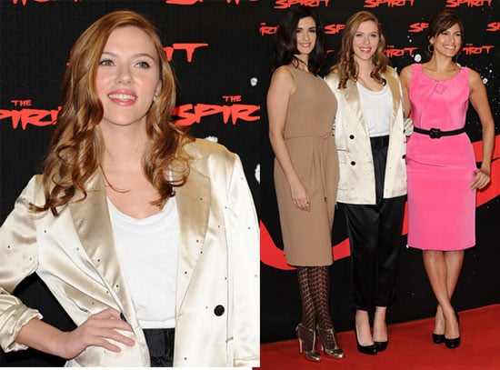 Photos of Scarlett Johansson, Eva Mendes, Paz Vega at a Photo Call For The Spirit in Madrid