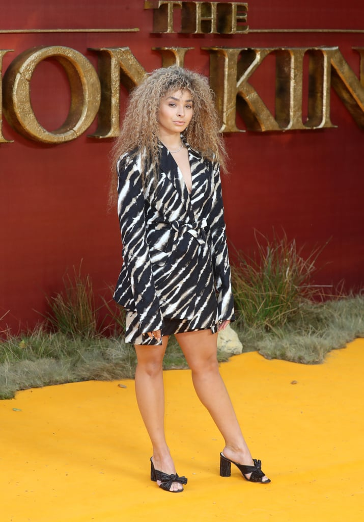 Pictured: Ella Eyre at The Lion King premiere in London.