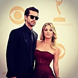 "Kaley had her ""main man"" by her side on the Emmys red carpet.  Source: Instagram user Norman Cook"