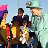 Queen Elizabeth receives a gift from young Aussies.