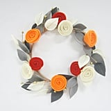 Hyde and Eek! Boutique Halloween Floral Felt Wreath
