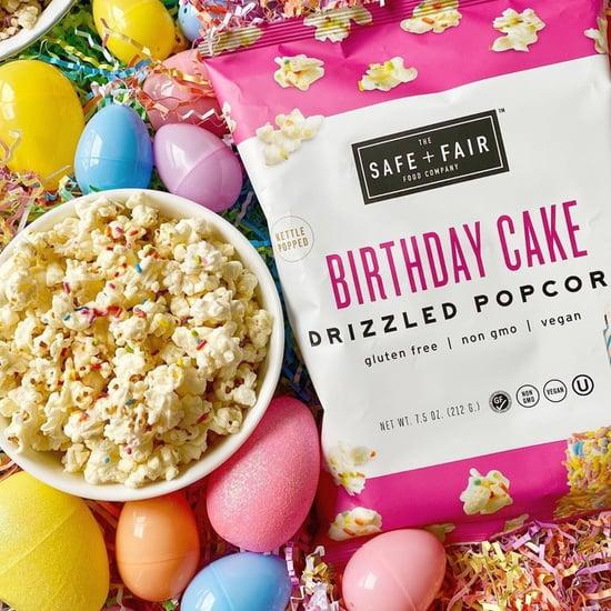 Shop Safe + Fair's Drizzled Birthday Cake Popcorn