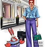 Mr. Krabs as a Gucci Fashionista