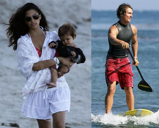 Photos of Matthew, Camila and Levi in Malibu