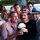 Guests at Fergie's baby shower included Julianne Hough, Adam Shankman, Lance Bass, Kelly Osbourne, Michael Turchin and George Kotsiopoulos. Source: Instagram user adamshankman