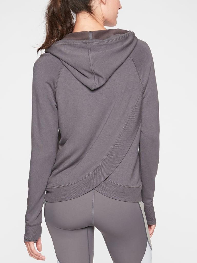 Criss Cross Back Hoodie Sweatshirt
