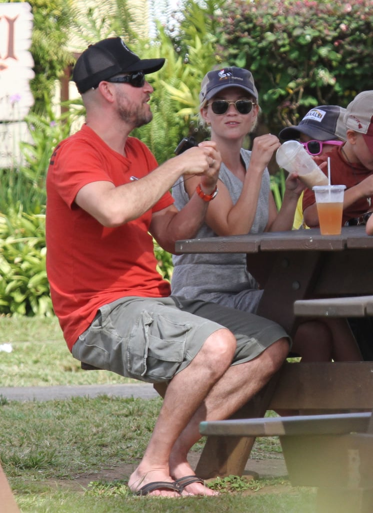 In Aug. 2011, Reese Witherspoon and Jim Toth sat down for lunch in Kauai.