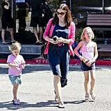 Jennifer Garner ran errands with Seraphina and Violet Affleck.