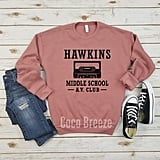 Hawkins Middle School AV Club Fleece Sweater