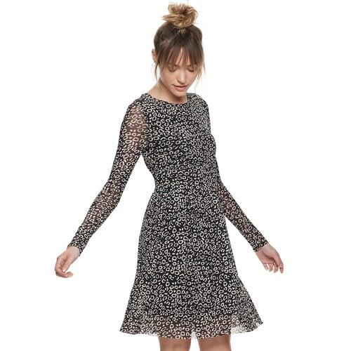 POPSUGAR Printed Mesh Dress