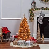 Sterling Tree Company Rose Gold Slim Tuscany Tinsel Tree