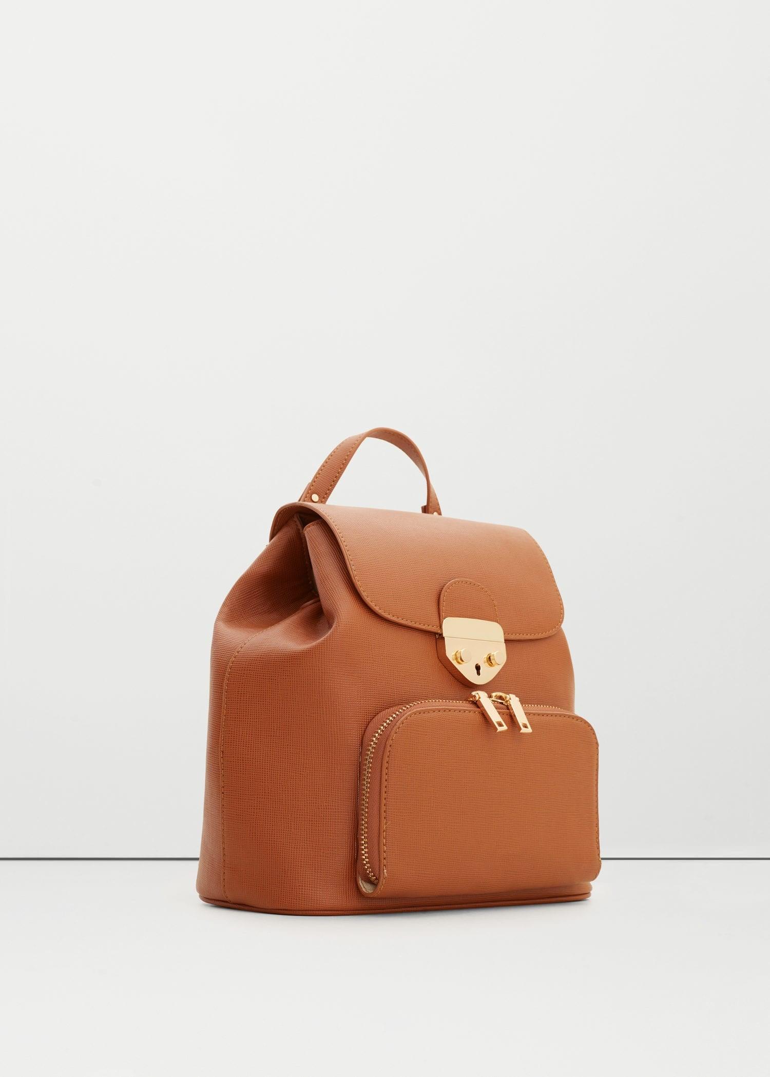 Mango Outlet Front Pocket Backpack Jennifer Anistons New