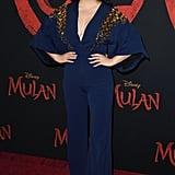 Lana Condor's Antonio Berardi Jumpsuit at the Mulan Premiere