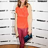 Olivia Palermo gives us an advanced lesson in color play with the help of her statement pants.