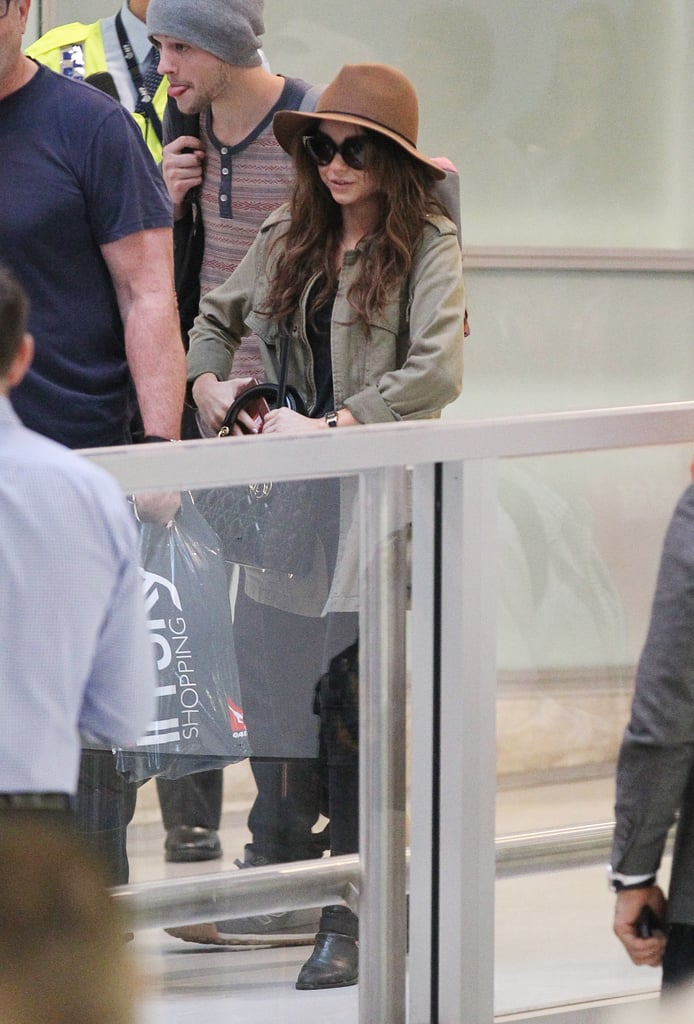 Sarah Hyland landed in Sydney on Feb. 18 and brought her boyfriend, Matt Prokop, along for the trip.