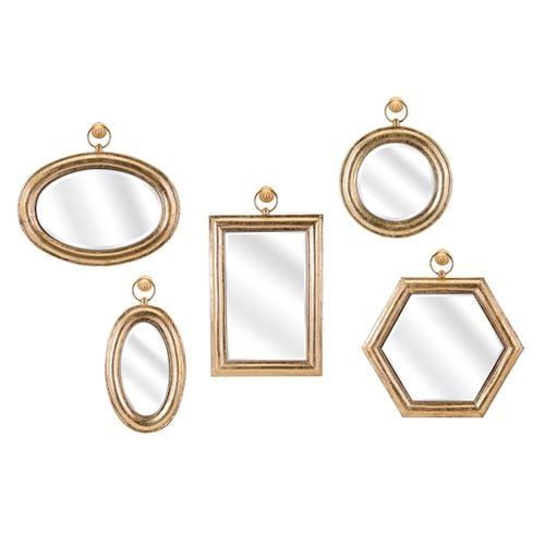 Rylan Wall Mirrors (Set of Five)