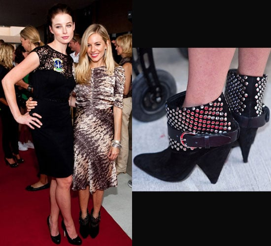 Photo of Sienna Miller Wearing Isabel Marant Studded Booties at G.I. Joe Screening For Army and Air Force