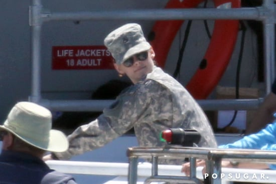 Kristen-Stewart-wore-full-Army-uniform-while-filming-Camp-X-Ray