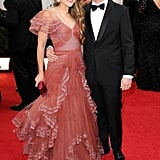Andy Samberg and his wife, Joanna Newsom, arrived together for the Golden Globes.