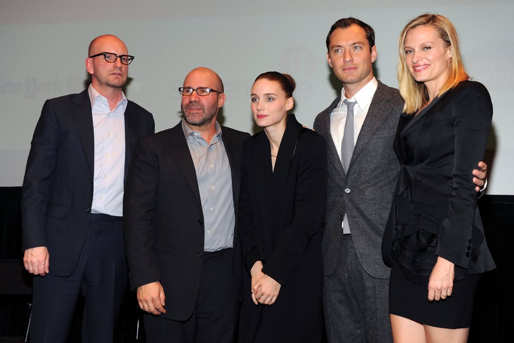 Steven Soderbergh, Scott Z. Burns, Rooney Mara, Jude Law, and Vinessa Shaw were out for a screening of  Side Effects in New York.