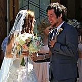 Lee DeWyze and Jonna Walsh shared a sweet moment as newlyweds.