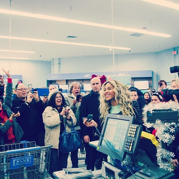 Beyoncé made a stop at a Walmart store, where she bought a copy of her new CD.  Source: Instagram user beyonce