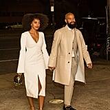 Solange and Alan dressed to the nines for their prewedding celebration on Friday.