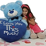 45-Inch Light Blue Teddy Bear