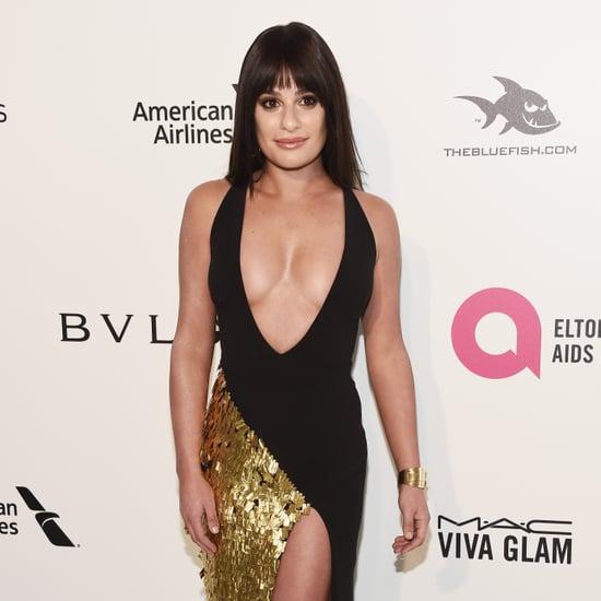 Lea Michele's La Perla Dress at Oscars Afterparty 2018