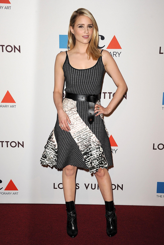 Dianna Agron struck a flirty pose.