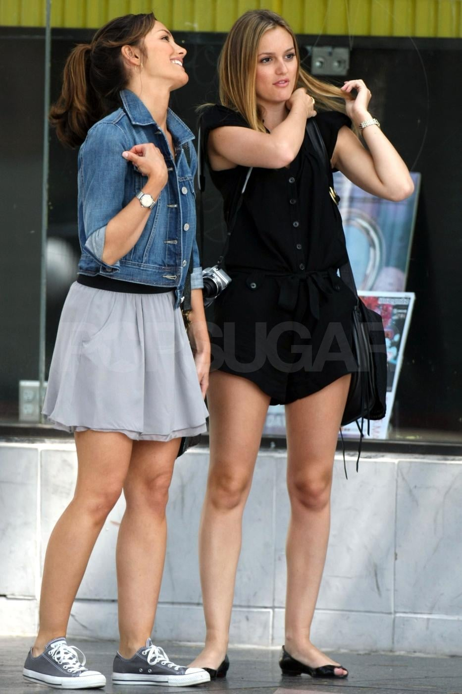 Photos of Leighton Meester and Minka Kelly Filming The ...
