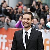 Tobey Maguire smiled amid the fan excitement at the Pawn Sacrifice event.