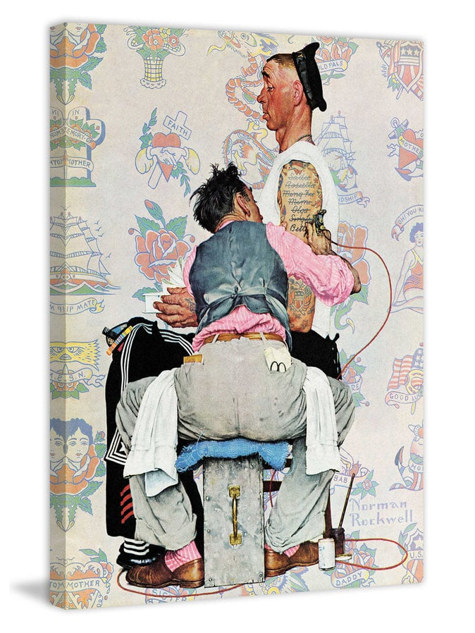 Tattoo artist canvas by norman rockwell tattoo home for Tattoo shops in norman