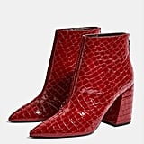 Topshop Wide Fit Houston Ankle Boots