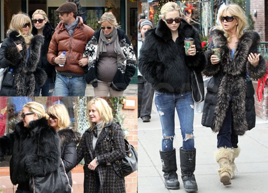 Photos of Kate Hudson, Goldie Hawn, and Oliver Hudson in Aspen For Christmas