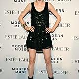 Coco Rocha hit the carpet for Estée Lauder in head-to-toe black.