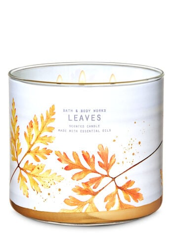Bath & Body Works Leaves 3-Wick Candle
