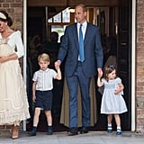Prince George Princess Charlotte at Prince Louis Christening
