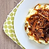 Crockpot Pork With Dried Plums and Mashed Potatoes