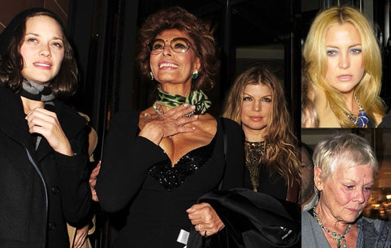 Photos Of Sophia Loren, Judi Dench, Fergie, Kate Hudson and Marion Cotillard Out For Dinner Before Shooting The Movie Nine