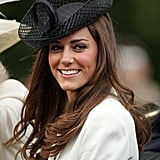 Kate selected a dramatic hat with woven details for the Trooping the Colour procession in 2011.