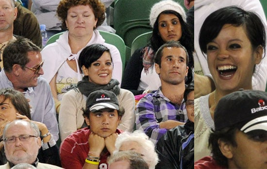 Photos of Lily Allen at Tennis in Melbourne