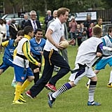 Prepare Yourself: Prince Harry Flashes His Royal Abs