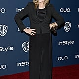 Tatum O'Neal wore head-to-toe black.