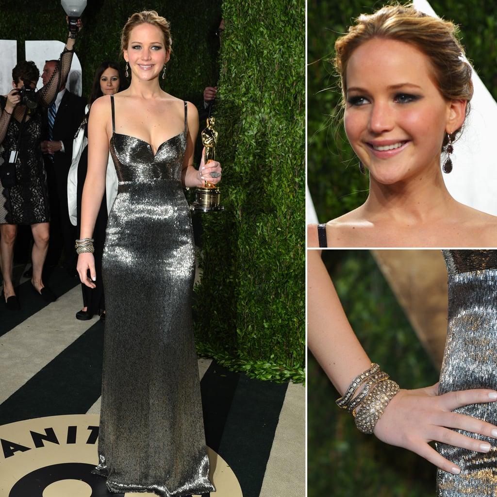 Jennifer Lawrence Oscar Party Dress 2013 | Pictures